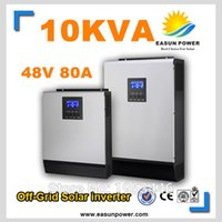 Горячее надувательство солнечного инвертора 10kVA 8KW 48V к 220V / 380V с инвертора сетки 80A MPPT чисто инвертор 60A волны синуса инвертора