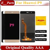 Original AAA grade pour Huawei Ascend P9 P9 EVA-AL00 AL10 TL00 DL00 écran LCD Digitizer écran tactile assembler blanc / noir / mélange d'or