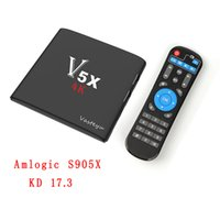 V5X caja de la TV del androide 6.0 4K Amlogic S905X Quad Core KD17.3 Krypton 1GB 8GB EMMC flash WIFI HDMI androide jugador