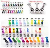 Colorful aluminum rotating 510 drip tip Stainless Steel Knuc...