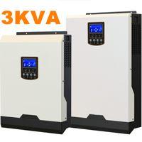 Круто ! Солнечные инверторы 3Kva 2400W Off инвертор сетки 24V до 220V 50A Инверторы PWM Чисто инвертор синусоидальной волны гибридный 25A AC