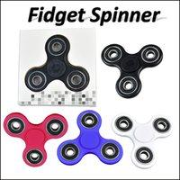 Mano Fidget Spinner juguete dedo spinner juguete Mano tri spinner HandSpinner EDC juguete para la descompresión ansiedad juguetes a través de DHL