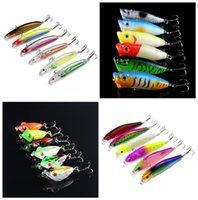 6- color Plastic Hard Baits Lures Hook Fishhooks 3D Minnow Fi...