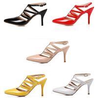 Plus size fashion women cross straps pumps with high stilett...
