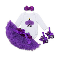 Baby Girls Lace Rompers Sets Newborn Jumpsuit+ Ballet Skirt+ H...