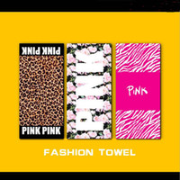 VS Pink Towel Leopard Plage Bathroom Beach Towels Mat Drying...