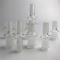 Adaptateur en verre 14 mm à 18 mm mâle femelle verre bong adaptateur nectar avec moulant bouche bouteille adaptateurs pour les tuyaux d'eau fumant