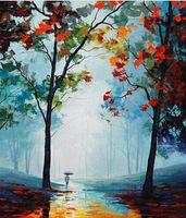 Чистый расписанную Абстрактный пейзаж Искусство картина маслом на холсте высокого качества Свободная перевозка груза, подгонять размер meii
