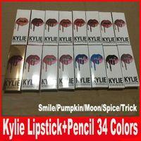 Последние 34colors KYLIE lipgolss JENNER LIP KIT kylie карандаш для губ карандаш Velvetine Жидкая матовая губная помада в красном блеске для губ Makeup для макияжа