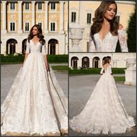 2017 Retro Vintage Lace Vestido De Novia Half Long Sleeve A ...