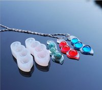 1pcs Silicone Pea Mould DIY Resin Necklace Pendant Craft Jew...