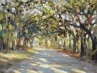 Southern Oaks Art, Pure расписанную Пейзаж ART Картина маслом на высокое качество Canvas.any заказной размер принимаются