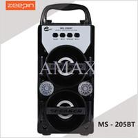 MS-205BT modèle sans fil bluetooth mini haut-parleur lecteur MP3 stéréo son caisson de basses U disque tf carte affichage radio FM avec paquet de détail