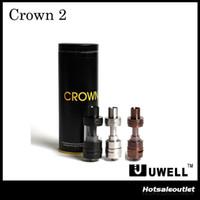 Authentique Uwell Couronne II Réservoir Uwell Couronne 2 Réservoir avec 4ml Capacité Topfill Leakfree Verrouillage Amélioration de débit d'air 100% Original