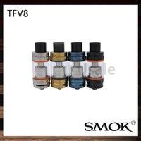 Smok TFV8 atomiseur Smoktech 6.0ml TFV8 Cloud Beast réservoir avec V8-T8 V8-Q4 tête de bobine Meilleur mise à jour TFV4 réservoir 100% original