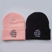 Skullies Beanies Letter Patterns Knitted Hats for Women Men ...