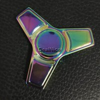 EDC Colorful Metal Fidget Spinner Finger Spinner Toy Aluminu...