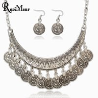 2017 Fashion Vintage Collier Femme Coins Jewelry Sets Maxi N...