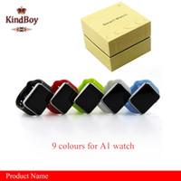 A1 Smart Watch Bluetooth DZ09 GT08 Écran Tactile Smartwatch Apple iWatch Soutien SIM TF Card Smart Montres pour Smartphone avec Retail Package