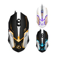 Professional Wired Gaming Mouse USB Optical Mouse 6 Buttons ...