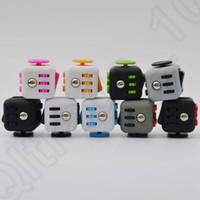 13 colores Magic Fidget cubo camuflaje escritorio juguete estrés ansiedad alivio adultos niños enfoque juguetes Fidget Spinner OOA1207