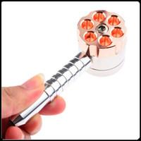 Bullet Rectificadoras Pipa para fumar 2 capas Mezcladoras de metal Aleación de zinc Molinillo de hierbas Tabacco Grinder VS Sharpstone Grinders