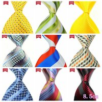 New Fashion Men Tie Stripe Silk satin neckties 8. 5cm Arrow t...