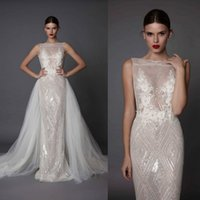 Betra 2017 Backless Mermaid Wedding Dresses With Detachable ...