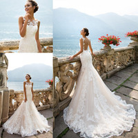 Mermaid Wedding Dresses 2017 Modest Appliques Full Lace Sexy Sheer Backless Vestidos de noiva Custom Made Sweep Train