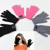 4 цвета перезаряжаемые Bluetooth перчатки Зимняя сенсорный экран Спортивные перчатки Встроенный микрофон для мобильных телефонов PPA628