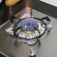 The gas stove thick aluminum foil high- temperature kitchen g...