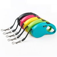 5M Solid Dog Leash Nylon Pet Leashes Retractable Traction Ro...
