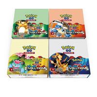 Poke Trading Cards Juegos Edición Inglés Anime Tarjetas Tarjetas de juego de mesa 324pcs / lot Niños Juguetes