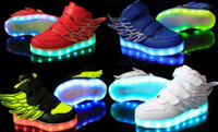 Wings Led Light Up Shoes 11 Colors Flashing Rechargeable Sne...