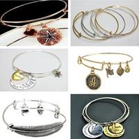 Luxury Alex& Ani Bangles Starfish letters pendant bracelets ...