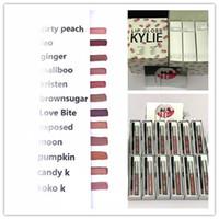 Праздничное издание Kylie Lip Kit Матовая жидкая губная помада для губ Lipkit Kylie Jenner Косметические комплекты Angle vixen 12 Colors High Quality