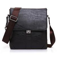 Men' s Business Briefcase PU Leather Messenger Bag Casua...