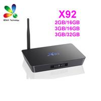 X92 2GB / 16GB 3Go / 16Go 3G / 32G Android 6.0 Smart TV Boîte Amlogic S912 Octa Core CPU KODI 16.1 2.4G / 5G 4K H.265 Set Top Box