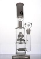 Grace Glass Bongs avec percs diffus Dab Rigs tuyau d'eau blanc droit avec joint femelle de 18 mm