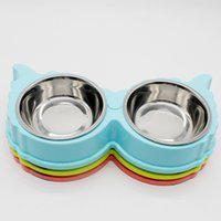 Wing Style Stainless Steel Pet Bowls Plastic Dog Food Bowl C...