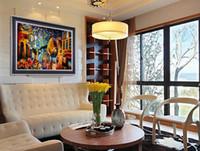Серия просмотра улиц Современные домашние декоративные картины холст стены картины Ручная роспись масляной живописи цвета палитры JL459