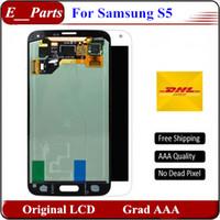 Pour Samsung Galaxy S5 Qualité AAA Aucun défaut i9600 G900F G900H G900M G9001 G900R Moniteur d'affichage à cristaux liquides Écran tactile Numériseur avec LoGo Par DHL