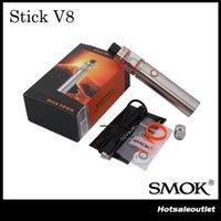 Authentique SMOK Stick V8 Starter Kit avec 5ml TFV8 Big Baby Tank 3000mAh Stick V8 Batterie 100% Original