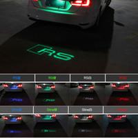 Audi led Anti- tail light Rain fog welcome rear laser lights ...
