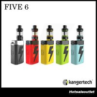 Authentique Kanger AKD Five 6 Kit Non inclus Batterie avec Kangertech Five6 220W Mod Five 6 Tank Tiger Coils