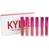 NEW Kylie Valentine's Day Collection Mini Kit Матовая жидкая губная помада 6 цветов Kylie Lipgloss Хорошее качество Бесплатная доставка