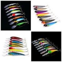 8- color Plastic Hard Baits Lures Hook Fishhooks 3D Minnow Fi...