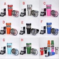 Yeti Coolers Cup 30 onzas Yeti Sports Mugs Taza de viaje de acero inoxidable de gran capacidad 6 colores en stock