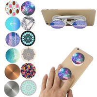 Support universel PopSockets pour téléphones intelligents et tablettes Support pour téléphone mobile souple Chakra Marble Mandala stents