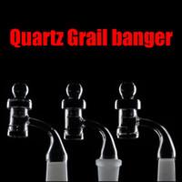 Toro Glass Quartz Grail 4mm épaisseur quartz banger clou 90 degrés 10mm 14mm 18mm mâle 14.4mm 18.8mm femelle joint 2015 prix Livraison gratuite